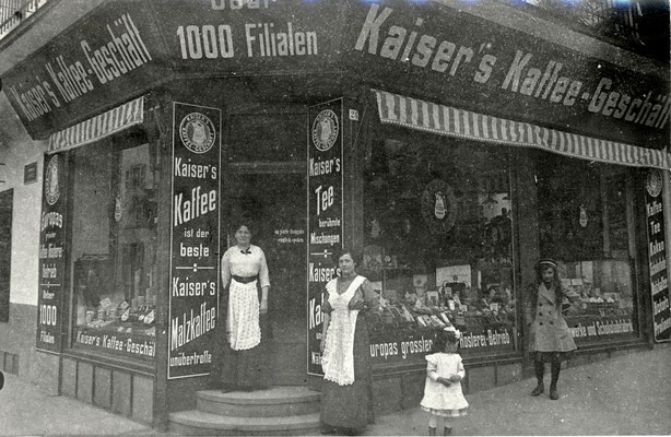 Kaiser's Kaffee-Geschäft in Bad Nauheim, Foto von Familie Werle, Online-Museum Bad Nauheim
