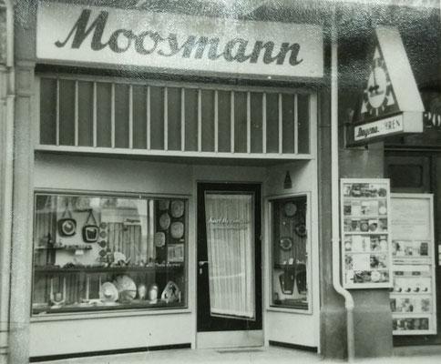 50er Jahre: Uhren- und Schmuckgeschäft Kurt Moosmann, Parkstraße Bad Nauheim