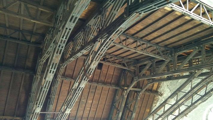 Dachunterseite Salinengebäude - Behälterraum - 11.09.2016, Foto: Beatrix van Ooyen