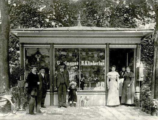 """Blumenladen """"Gärtnerei B. Klinkerfus"""" am Kurpark, Foto von Familie Werle, Online-Museum Bad Nauheim"""