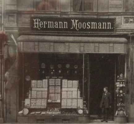 Uhrengeschäft Moosmann in Magdeburg vor dem 2. Weltkrieg