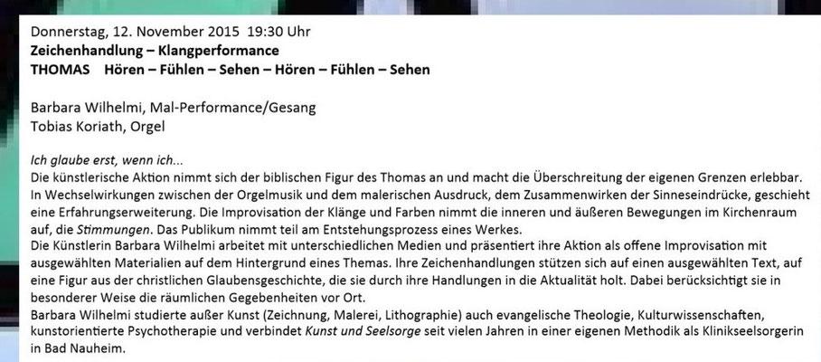 Barbara Wilhelmi - Einladung 12.11.2015