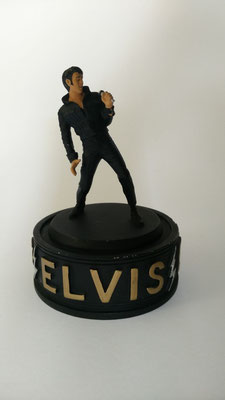 "Skulptur ""Elvis the King"" Limited Edition No. B6565, Porzellan, handbemalt, EPE 1994, Schenkung Rolf Herz"
