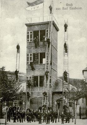 Feuerwehr Bad Nauheim, Foto von Familie Werle, Online-Museum Bad Nauheim