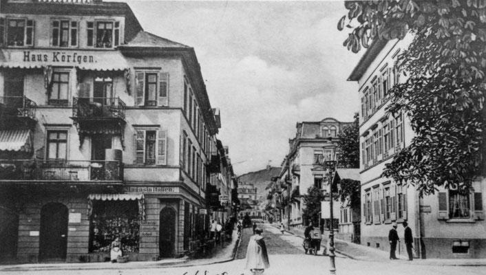 Ecke Stresemannstraße / Karlstaße, Sammlung Marie-Luise Matla, geb. JOHN, Digital im ONLINE-MUSEUM BAD NAUHEIM