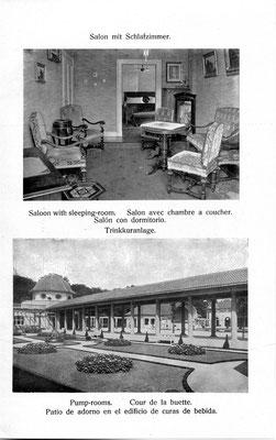 Hotel Grunewald Bad Nauheim, Hotelprospekt um 1900, Museum Bad Nauheim