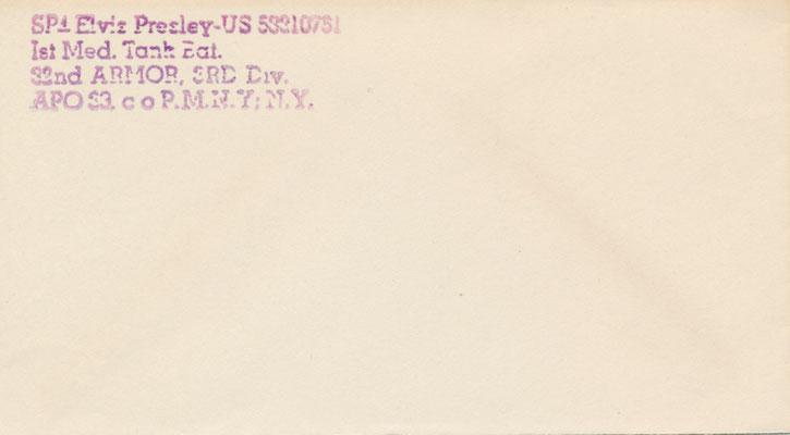 Eingang 11.11.2015 / Schenkung der EPI Gelsenkirchen: Briefumschlag aus Elvis Briefpapiermappe im Hotel Grunewald - Vorderseite