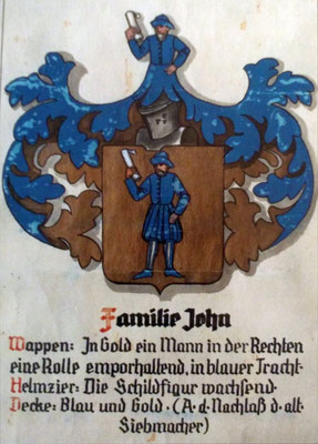 Familienwappen, Sammlung Marie-Luise Matla, geb. JOHN, Digital im ONLINE-MUSEUM BAD NAUHEIM