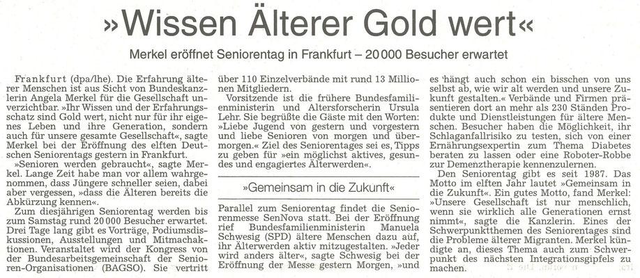 Wissen Älterer Gold wert, WZ 03.07.2015, dpa/lhe