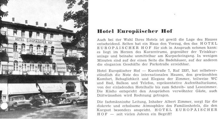 Foto: Sammlung Marlies Zimmer - Europäischer Hof und Gästehaus Quisiana, Digitale Leihgabe ONLINE-MUSEUM BAD NAUHEIM