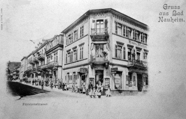 Eckhaus, später Drogerie Waas / Heute Reformhaus, Sammlung Marie-Luise Matla, geb. JOHN, Digital im ONLINE-MUSEUM BAD NAUHEIM