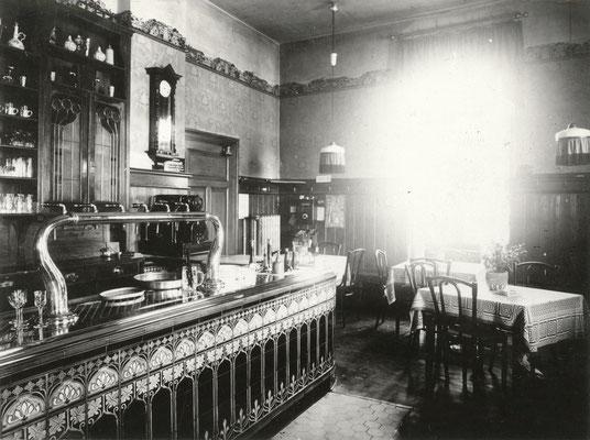 ehem. Hotel und Restaurant Josef Haberl, etwa 1908, Bahnhofsallee, Foto von Familie Werle, Online-Museum Bad Nauheim