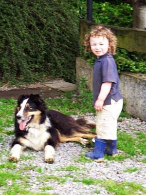 Bauernhofurlaub Eifel, Lui, der kinderliebe Hofhund