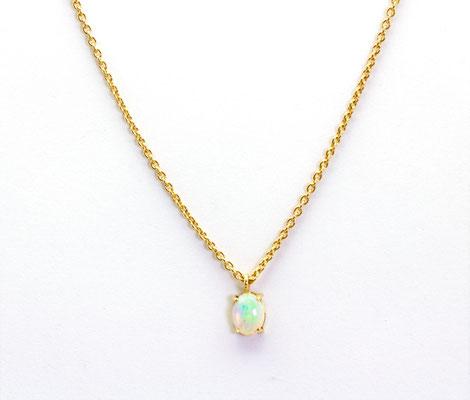 collier or rouge opale poire Ethiopie