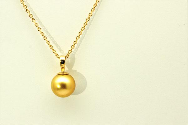 pendentir or jaune perle Gold
