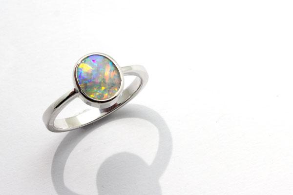 bague argent opale Brésil