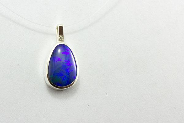 pendentif argent opale boulder Australie