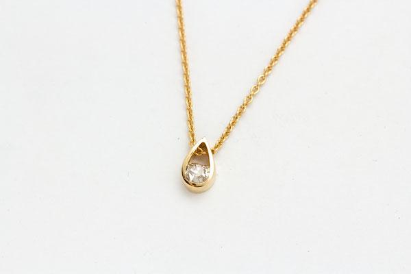 pendentif or jaune diamant taille ancienne