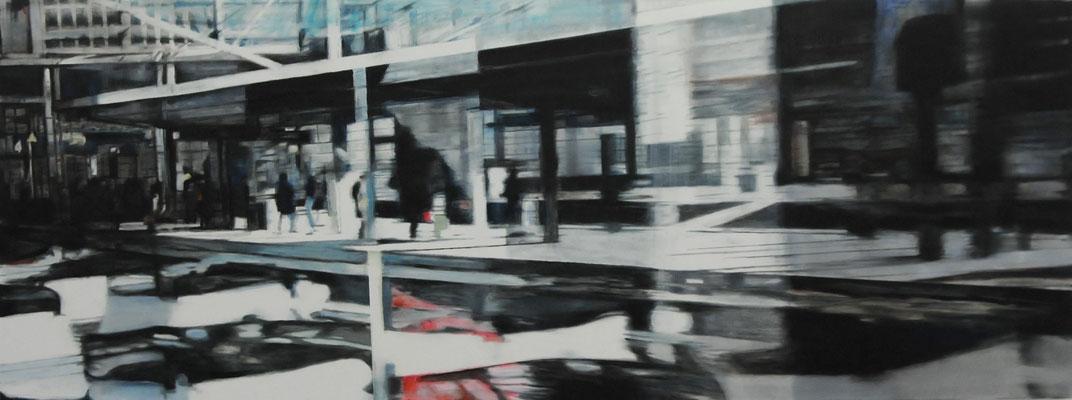 non-stationary     Öl auf Leinwand    60 x 160 cm