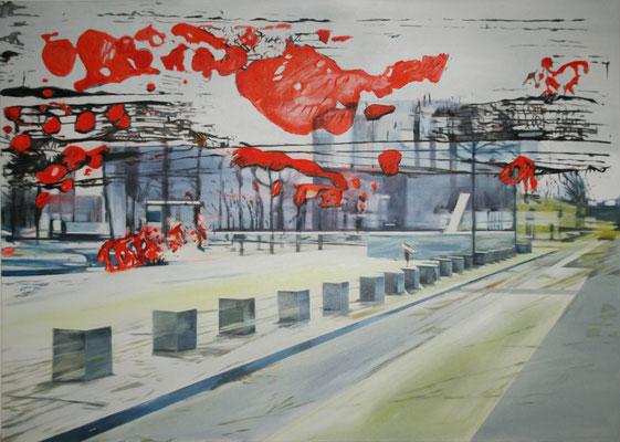 wolkig 2015    Öl auf Leinwand   100 x 140 cm