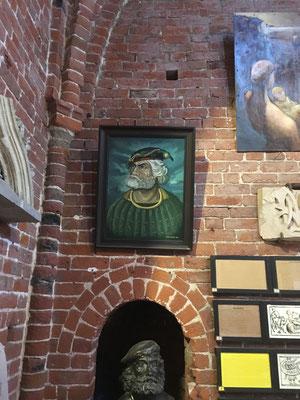 Eine lange Zeit als Störtebeker-Porträt zeigt auch das Ölgemälde von Zenon Wrobel (Turmmuseum in Marienhafe) den Vertrauten Kaiser Maximilians I., Cunz von der Rosen