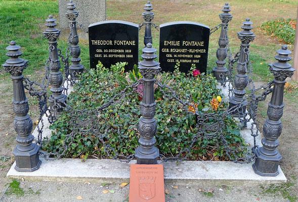 Theodor und Emilie Fontane; Friedhof Liesenstraße, Berlin; Foto: Joachim Kusserow