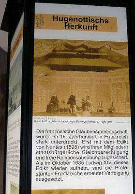 Dauerausstellung Hugenottenfriedhof, Berlin; Foto: Joachim Kusserow