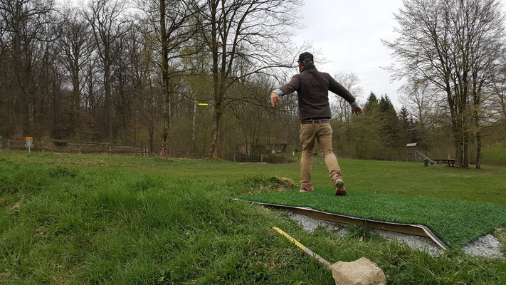 Gregor Marter testet die neue Bahn