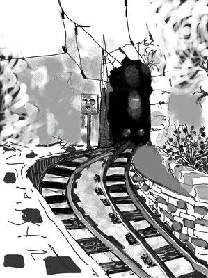 """""""Der perfekte Weg"""", 2014, digitale Zeichnung"""