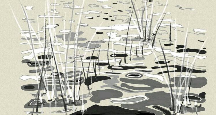 """""""Einsamkeit"""", 2014, digitale Zeichnung"""