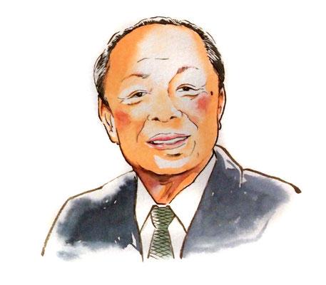 宮澤喜一 政治家 総理大臣 水彩画 似顔絵 挿絵 新聞