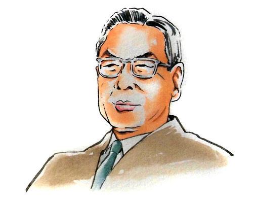 池田勇人 政治家 総理大臣 水彩画 似顔絵 挿絵 新聞