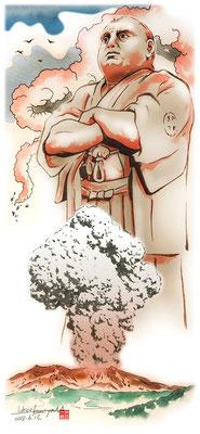 幕末、幕末英雄伝、武田鉄矢、挿絵、水彩画、江戸、日本、偉人、歴史、日本史、人物、西郷隆盛