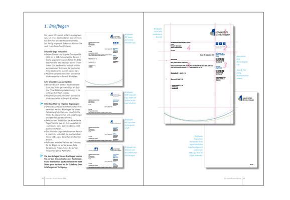 Corporate Design Manual, Innenseiten