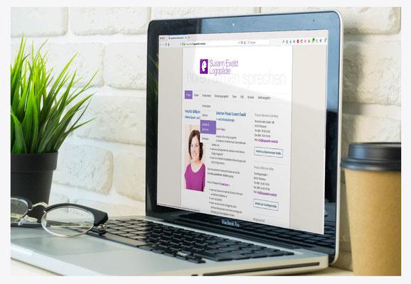 Webseite für Logopädische Praxis