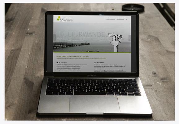 Webseite für Coaching Team