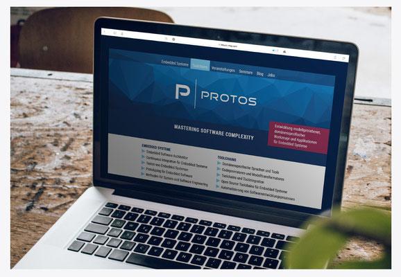 Webseite für Protos