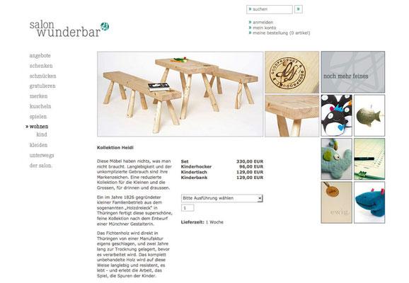 Webseite (Produkt Detailseite)