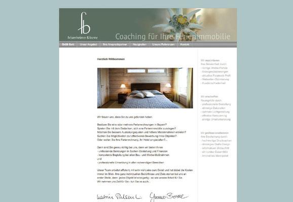 Webseite in Jimdo (Startseite)