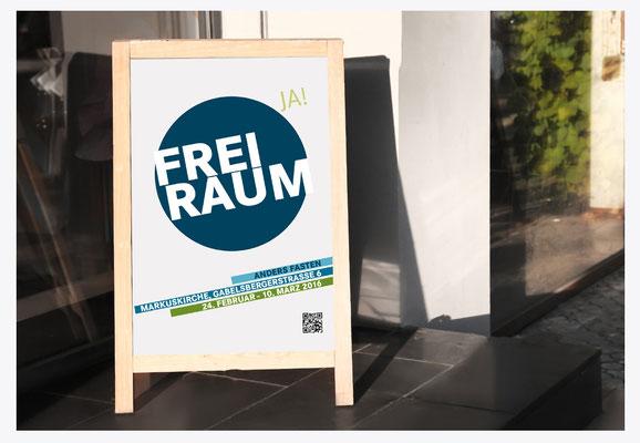 """Plakate für """"FreiRaum""""-Aktion"""