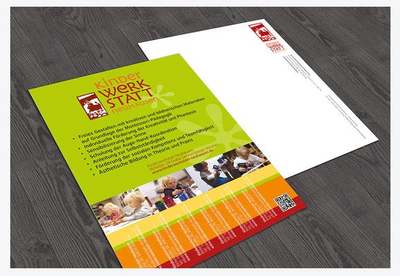 Plakat mit Abreisszettelchen und Briefpapier