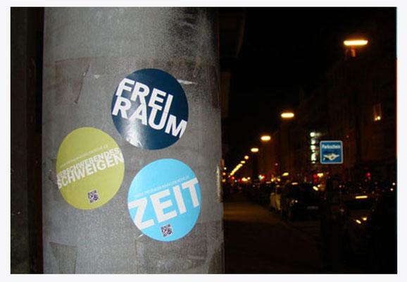 """Sticker für """"FreiRaum""""-Aktion"""