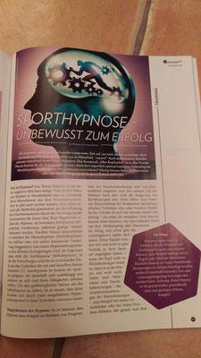 """Sporthypnose - Unbewusst zum Erfolg, ein Artikel von Hypnovent im Trainermagazin """"Leistungslust"""""""