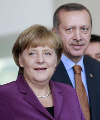 Bundeskanzlerin Angela Merkel mit Recep Tayyip Erdoğan in Berlin