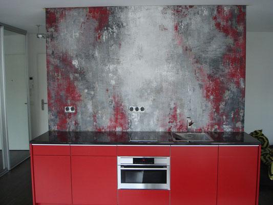 moderne Gestaltung einer Küchenwand