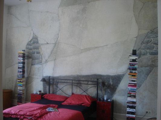 Schlafzimmerwand