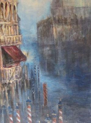 Venedig [Acryllasur auf Leinwand, 40x80 cm] © Ingrid Achsel
