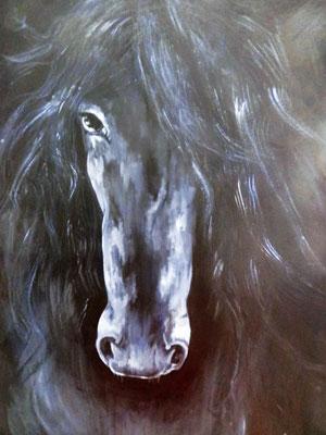 Black Pearl [Acryl auf Leinwand, 60x80cm] © Ingrid Achsel