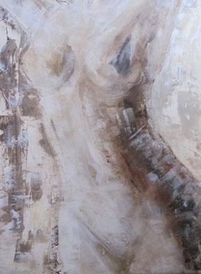 Akt in Braun [Acryl gespachtelt, 50x70cm] © Ingrid Achsel