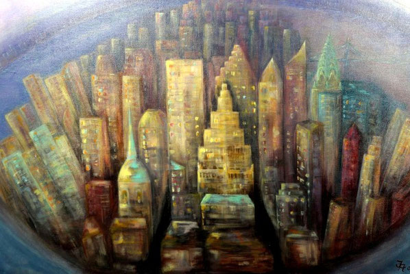 Manhatten [Acryllasur auf Leinwand, 100x70cm] © Ingrid Achsel